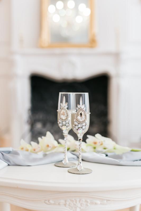Свадебные бокалы Ледяной узор