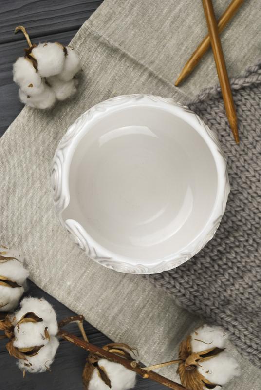 Керамическая клубочница для вязания
