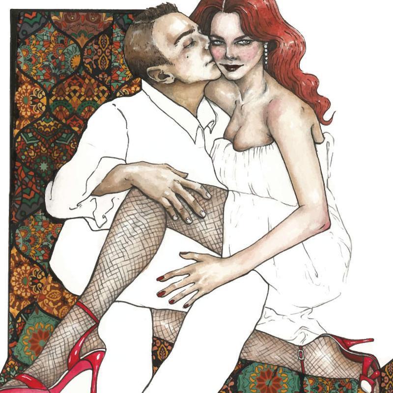 Открытка. Moulin Rouge