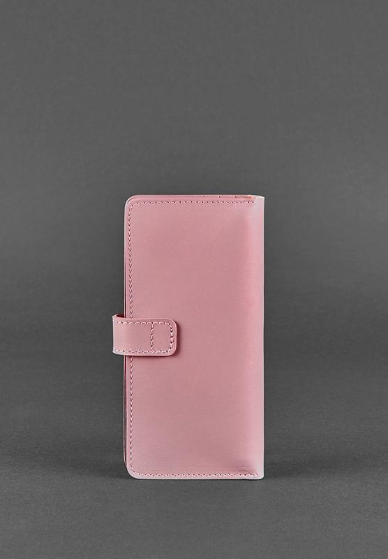 Кожаное женское портмоне 7.0 Розовое