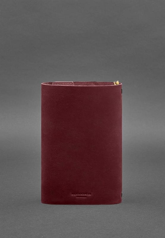 Кожаный блокнот софт-бук 7.0 бордовый Crazy Horse