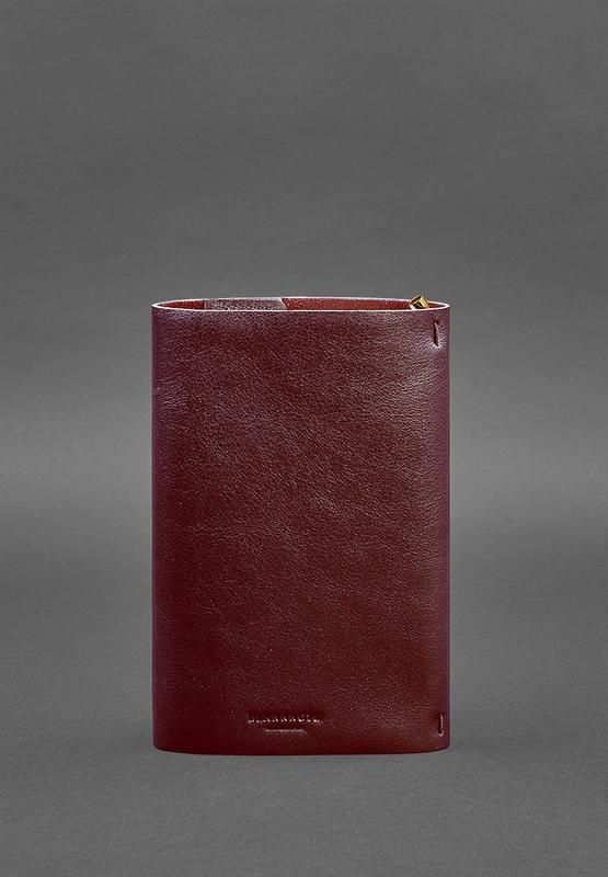 Кожаный блокнот софт-бук 7.0 бордовый Краст