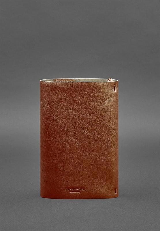 Кожаный блокнот софт-бук 7.0 светло-коричневый