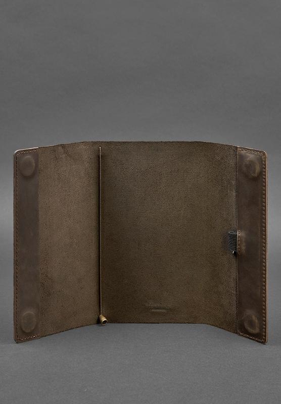 Кожаный блокнот софт-бук 7.0 темно-коричневый