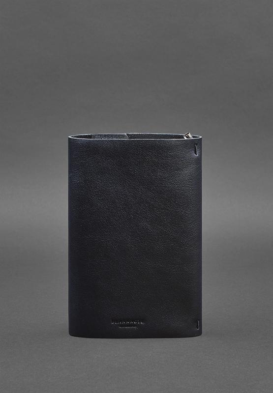 Кожаный блокнот софт-бук 7.0 темно-синий