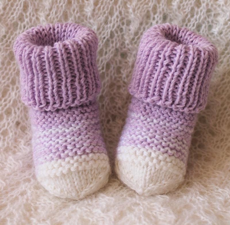 "Лавандовые носочки ""Аистёнок"""
