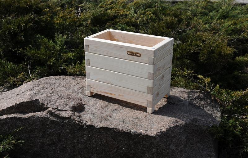 Высокий ящик для цветов и растений Organic Boх, для комнаты, балкона, террасы, сада. Высокие грядки.