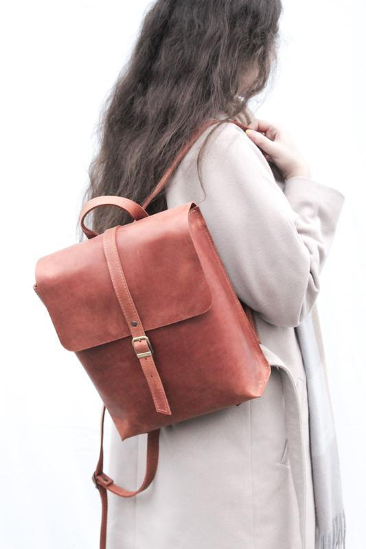 Женский кожаный рюкзак. Кожаный рюкзак Кевин.