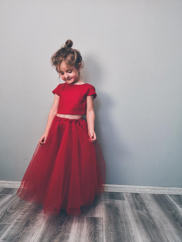 Платье из льна, нарядное платье с пышной юбкой, платье на праздник