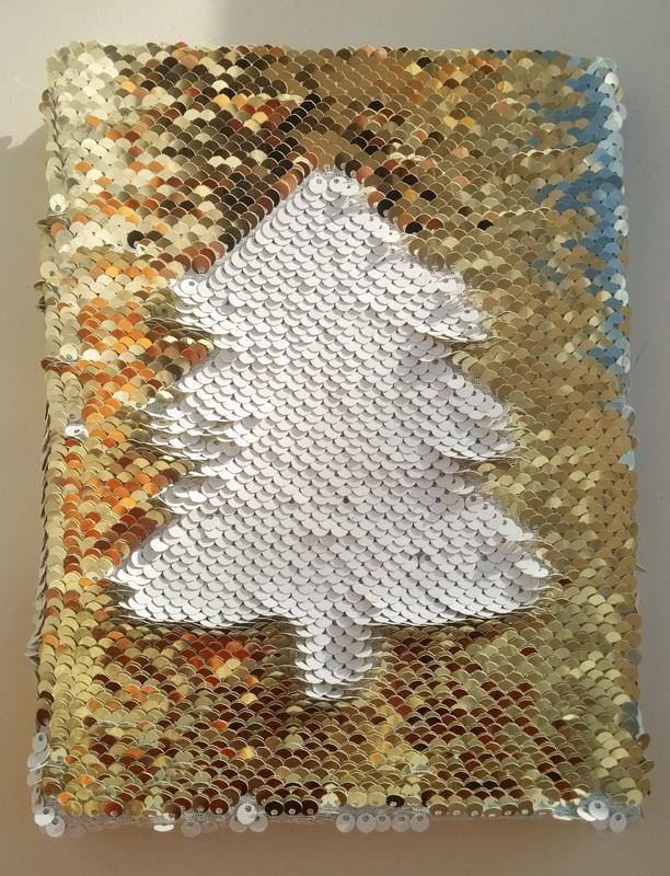 Блокнот з реверсивними паєтками з фото  Блокнот с фото на паетках