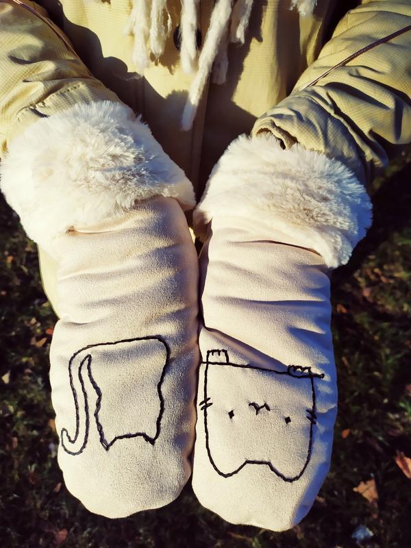 Перчатки теплые зимние