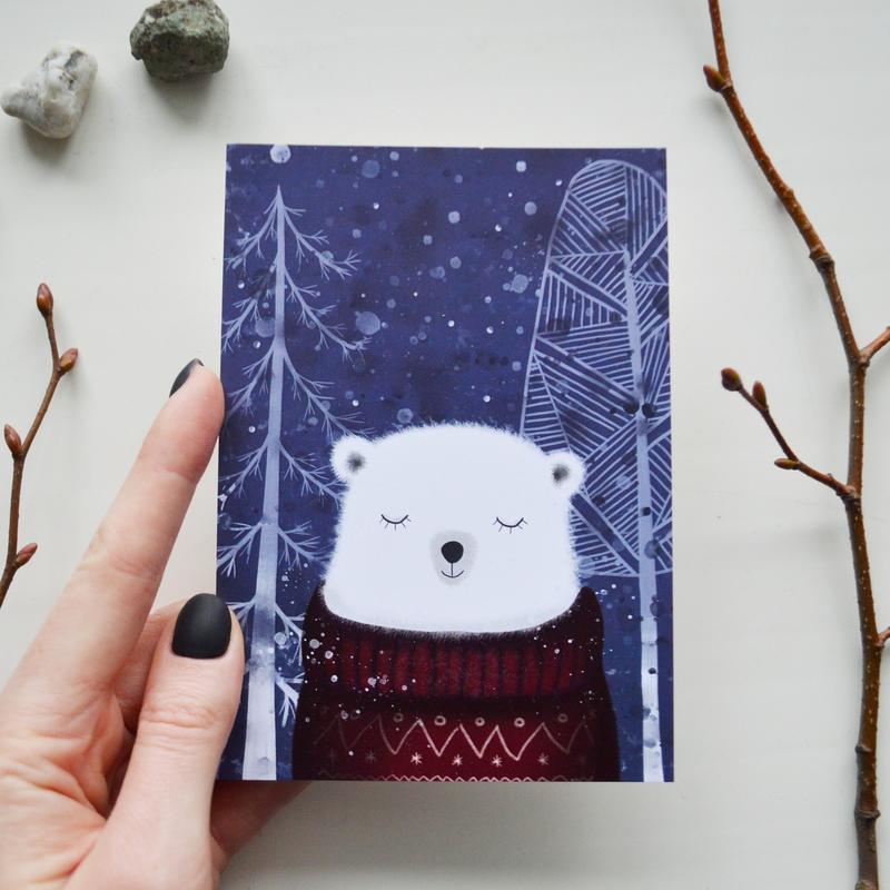 открытка Мишка