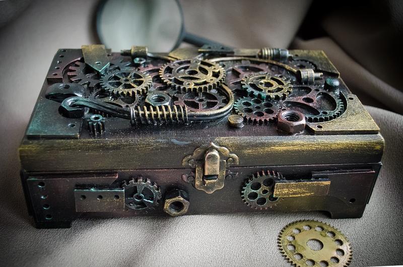 Купюрница в стиле стимпанк ′Механизм времени′