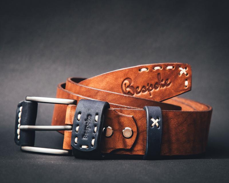 Кожаный мужской ремень коричневый(коньяк)/Мужской ремень натуральная кожа/Подарок мужчине