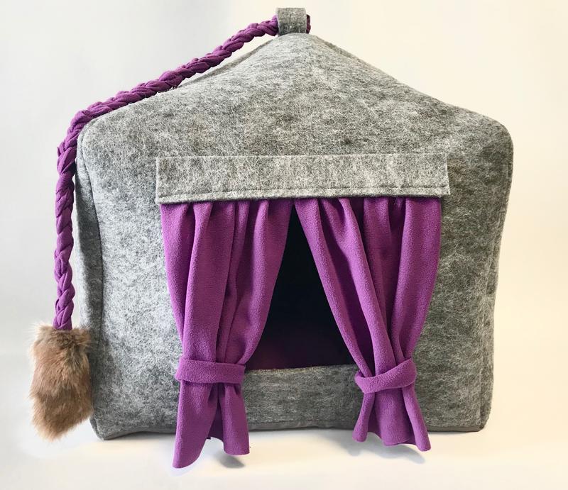 Будиночок лежанка зі знімною подушкою для кота, собаки, лежанка