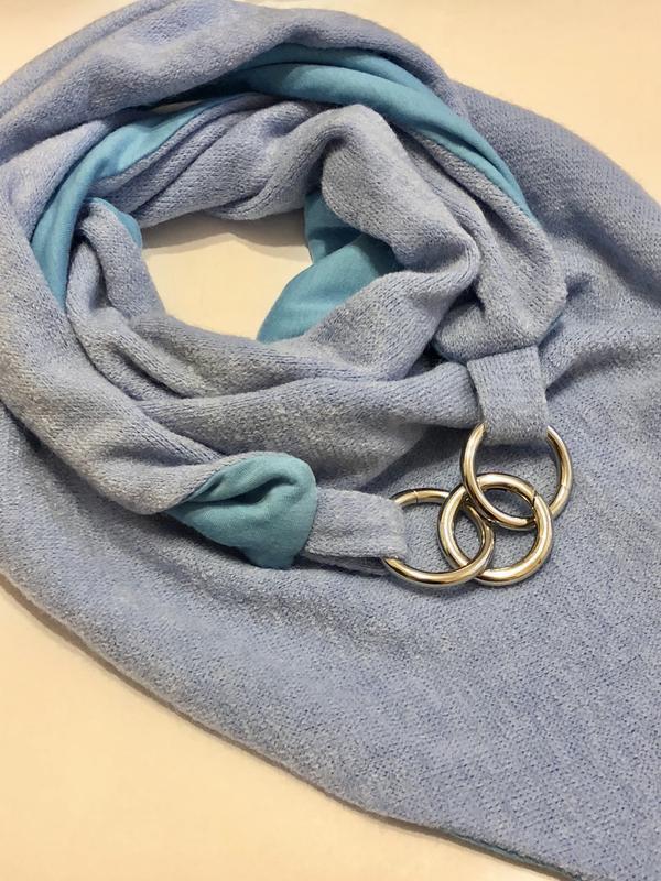 "Шарф-бактус ""Эдинбург"", женский зимний шарф, большой женский шарф, подарок женщине"