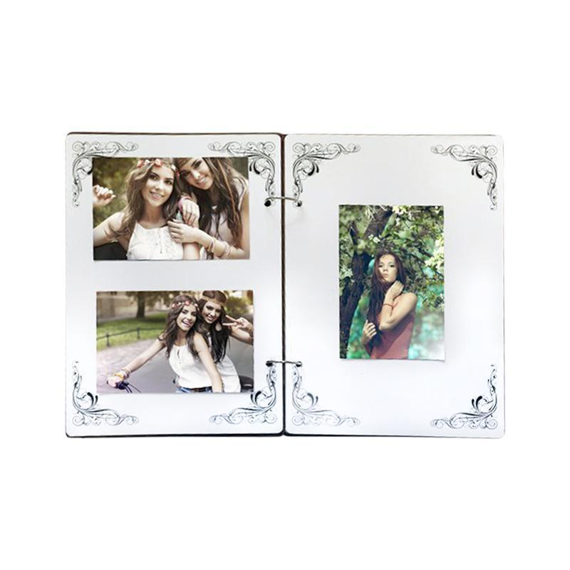 """Белый Фотоальбом из дерева """"LOVE""""  с Вашими именами и датой"""