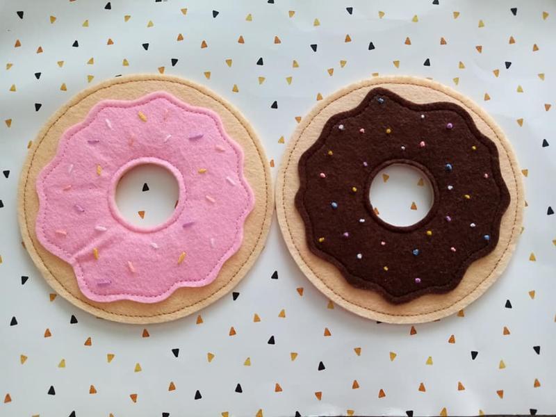 Підставки під гаряче, підставка під чашку, підставки під чашки, фетр, пончики №571280 - купити в Україні на Crafta.ua