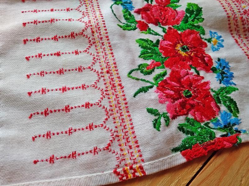 Вышитый свадебный, традиционный, традиційний весільний рушник №1