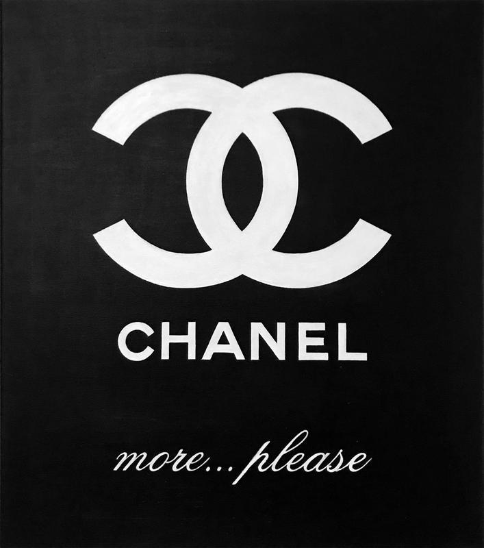 Картина Еще Шанели, 60х70 см, холст, масло, акрил, галерейная натяжка, незабываемый поп-арт