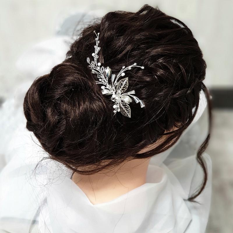 Свадебное украшение для волос,  веточка в прическу, нежное украшение в прическу