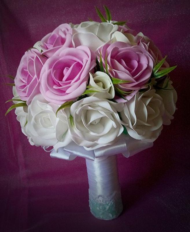 Роза свадебный, свадебный букет дублер из фоамирана