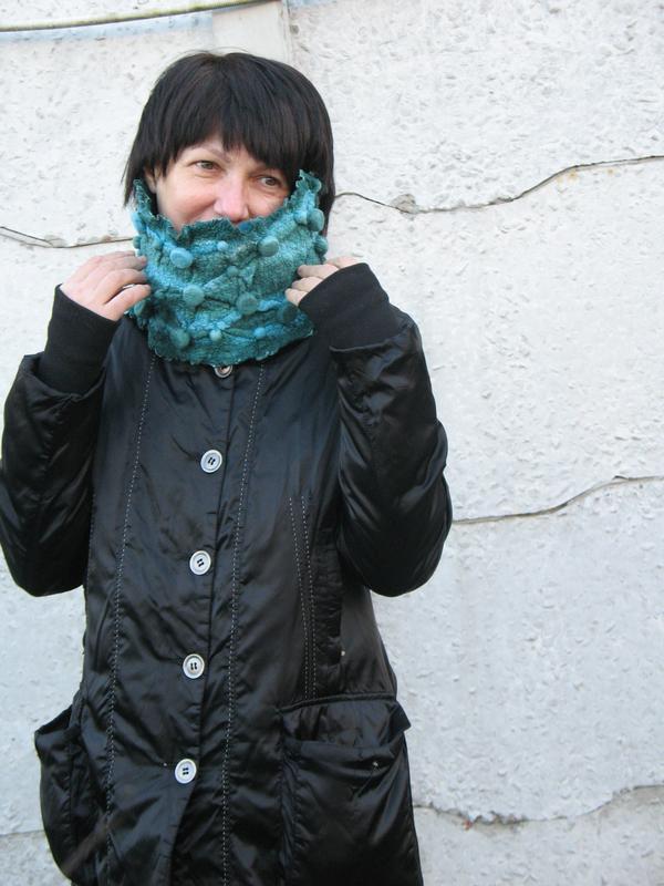 Снуд шарф воротник ′Лазурный′