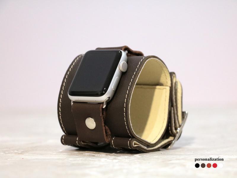 Кожаный ремешок для Apple Watch, код 1160ст