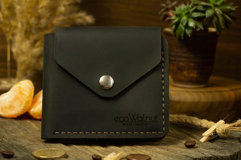 Бумажник Кошелек Кожаный Кошелек с отделом под мелочь Подарок Мужчине Женщине Портмоне
