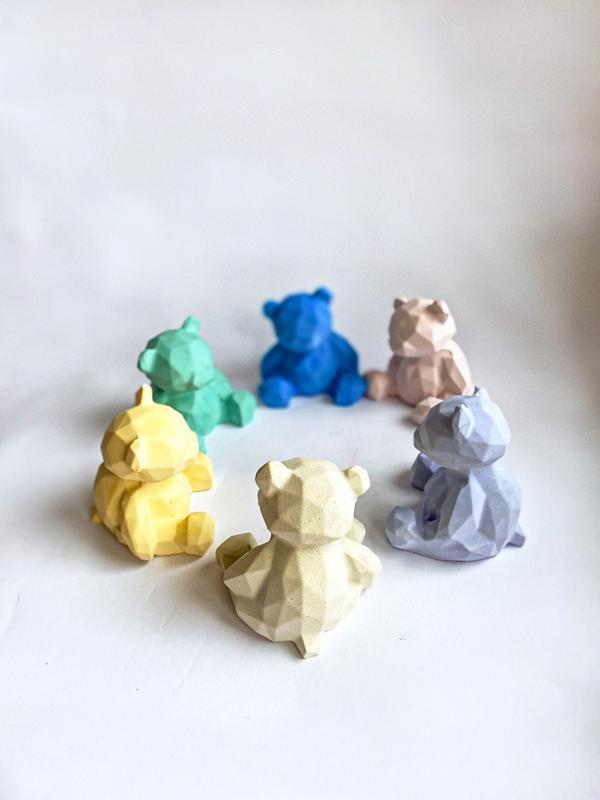 Полигональная фигура «медведь». Декор для дома