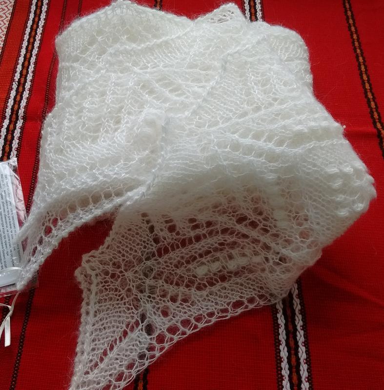 """Свадебная шаль-накидка """"Вигилия"""""""