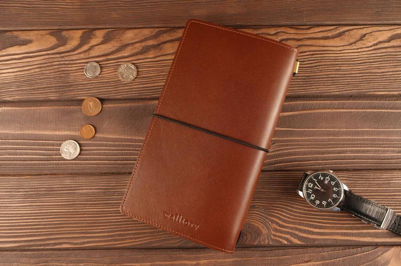 Кожаный блокнот ежедневник со сменным блоком
