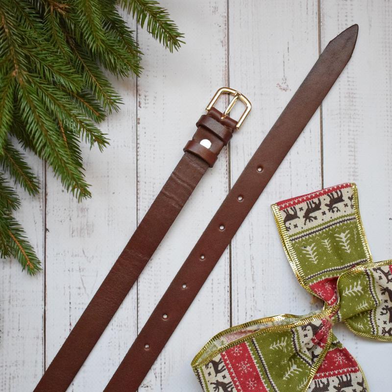 Premium20r7 женский кожаный коричневый узкий ремень пояс натуральная кожа кожанный