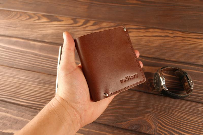 Кожаное портмоне Smart кошелек натуральная кожа