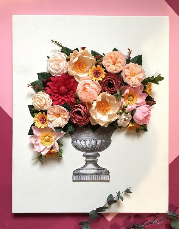 Декор на стену; цветы; подарок; 3д картина; настенное пано