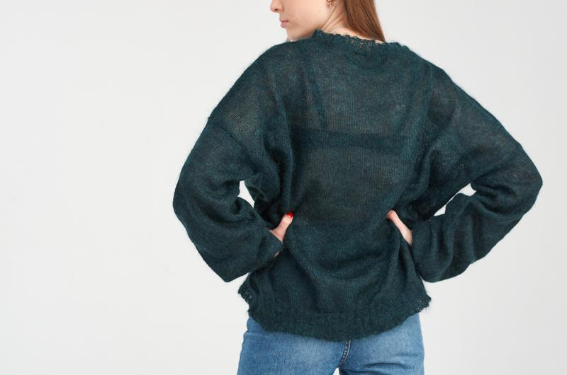 Пуловер женский из суперкид мохера