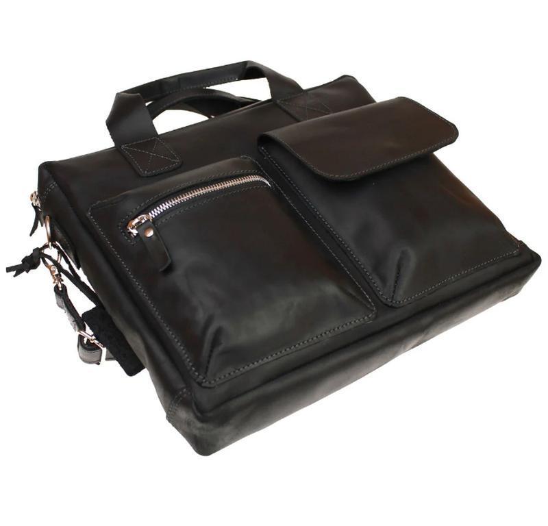 Кожаная сумка для документов А4 Minister ,4 цвета