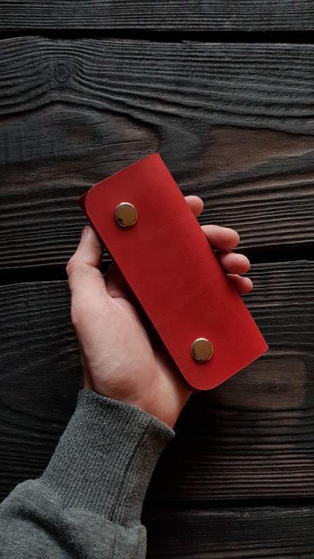 Ключница из кожи из натуральной кожи с именной гравировкой