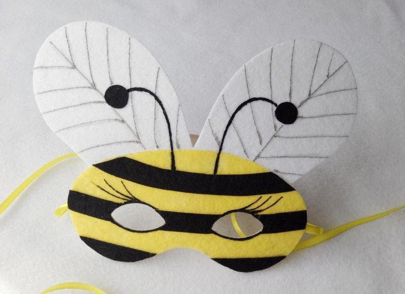 Маска пчелы из бумаги своими руками 45