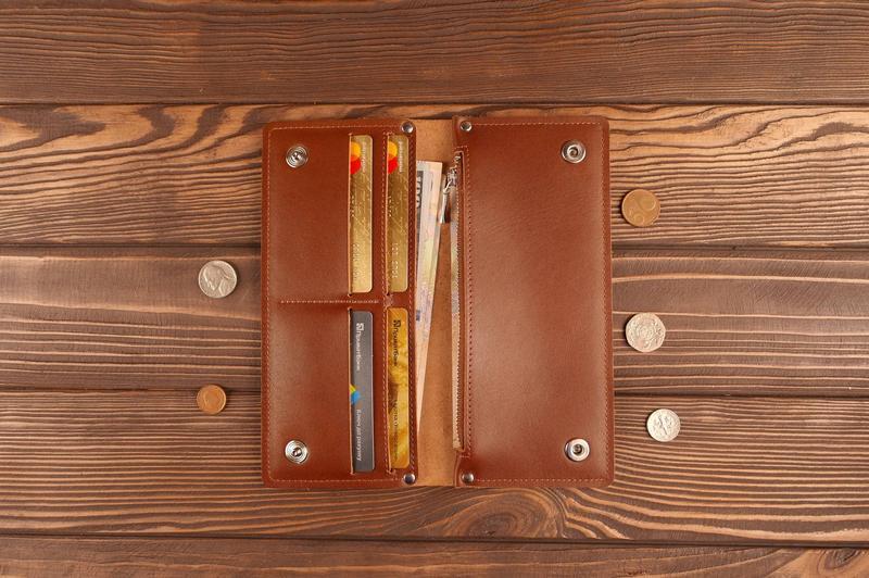 Кожаное портмоне кошелек из натуральной кожи.