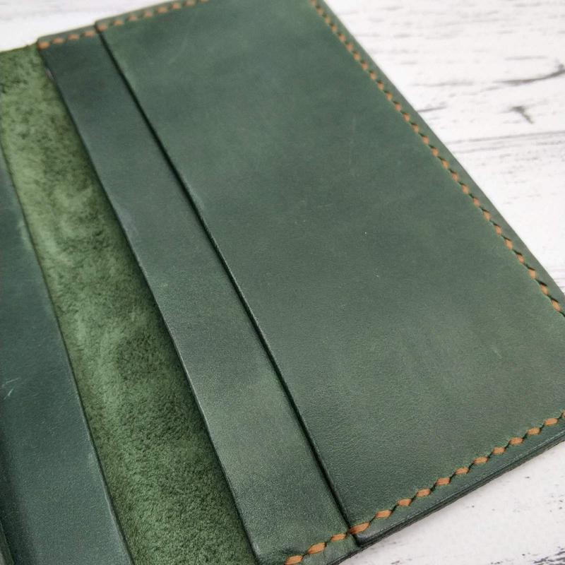 Бумажник Stedley Ostrek 2 кожаный зеленый