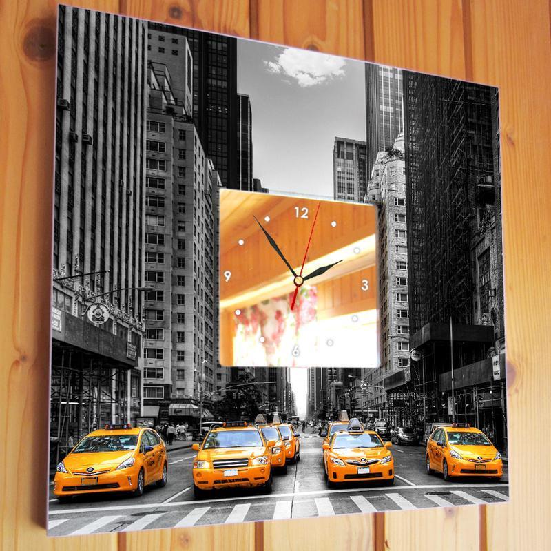 """Интерьерные часы  """"Такси Нью Йорка"""""""