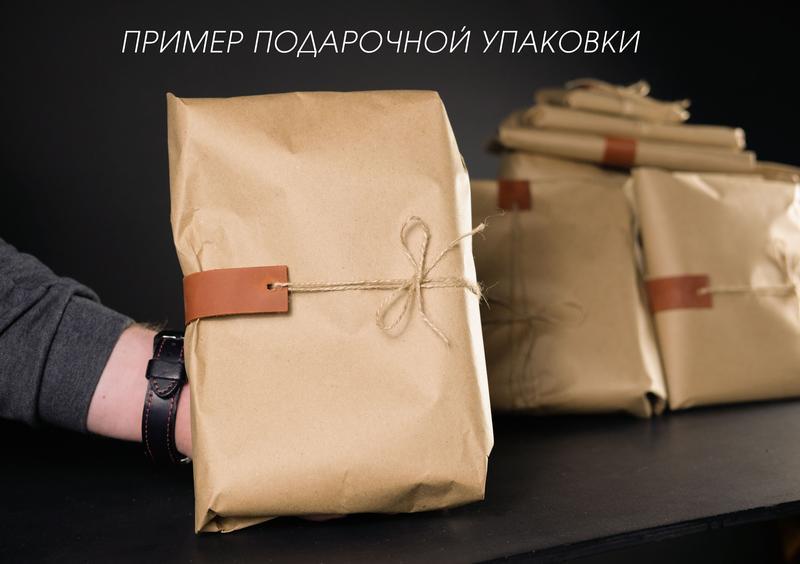 """Мужская сумка """"Модель №40"""" Кожа Итальянский краст цвет Коричневый"""