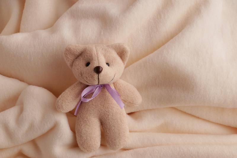 Декоративный коричневый Мишка Биг с фетра с лентой на выбор