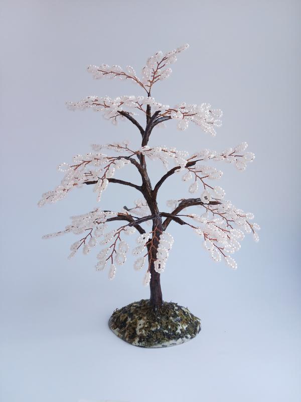 Дерево из бисера Сакура нежная