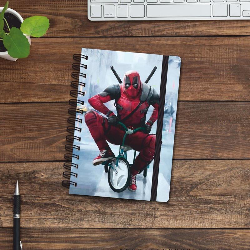 Скетчбук (блокнот) — Deadpool bike