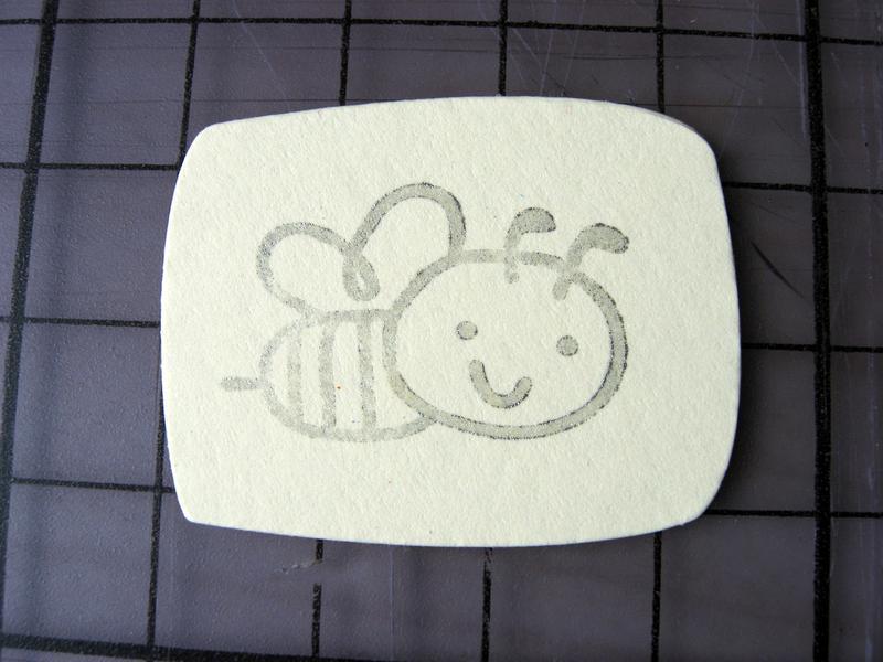 """Набор для скрапбукинга """"Пчелка"""", 14 штук"""