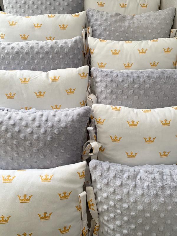Комплект детского текстиля, бортики на 4 стороны кроватки, простынь на резинке, конверт, одеяло