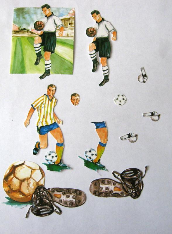 """Набор для создания открытки """"Футболист"""""""