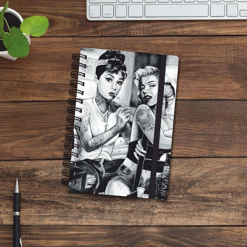 Скетчбук (блокнот) — Одри Хепбёрн и Мэрилин Монро